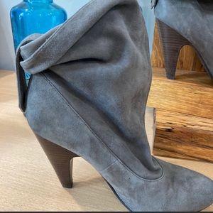 ASH Grey Suede Ankle sz 38